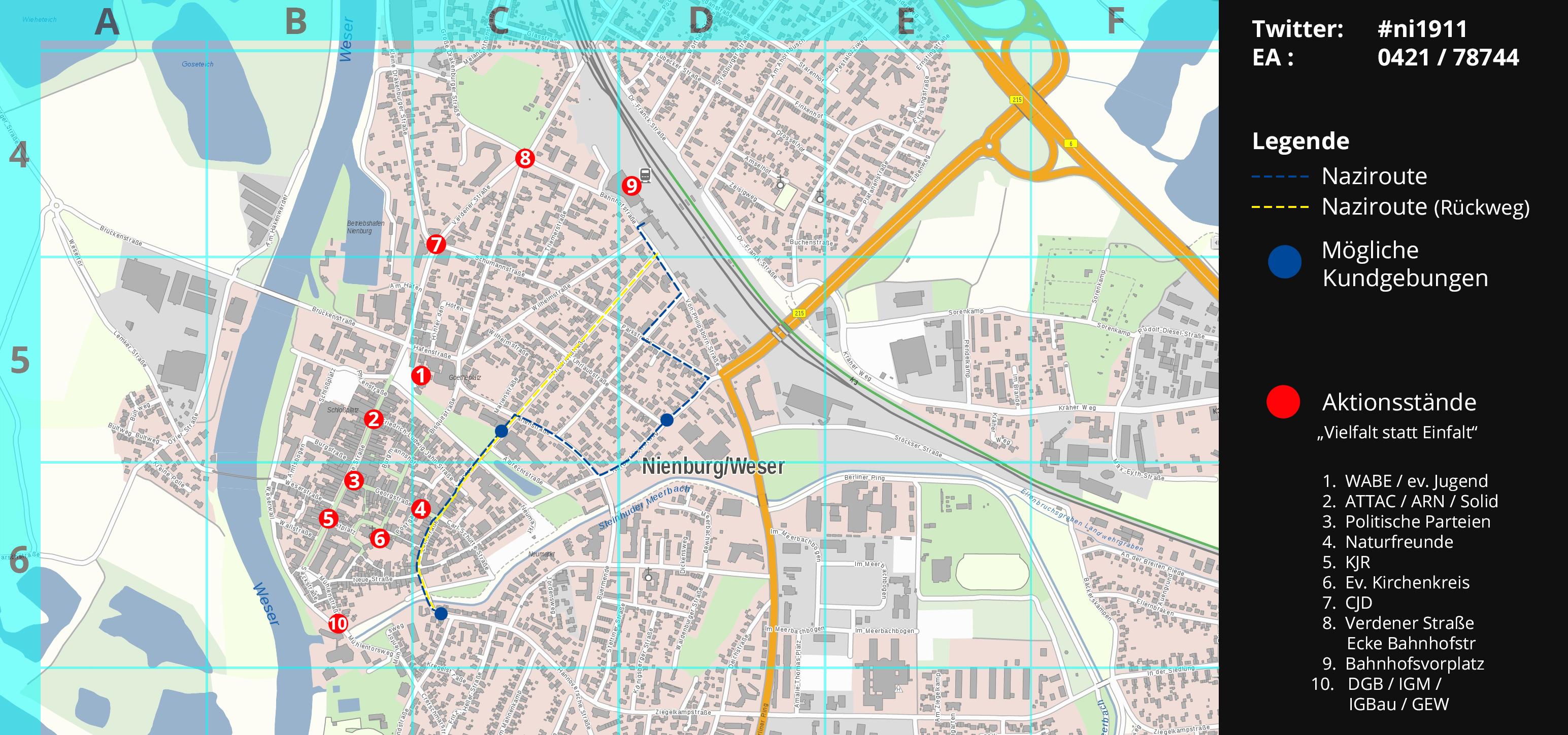 Aktionskarte Innenstadtbereich